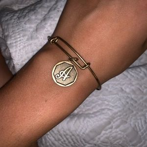 "Alex and Ani ""A"" Initial Bracelet"